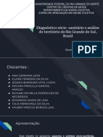 Diagnóstico sócio-sanitário e análise do território do Rio Grande do Sul, Brasil