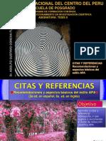 Citas y Referencias - Estilo Apa