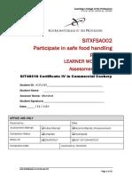 SITXFSA002 - Assessment Task 2