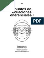 apuntes de ecuaciones diferenciales I