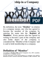 Membership in a Company