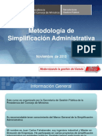 METODOLOGIA DE LA SIMPLIFICACION ADMINISTRATIVA