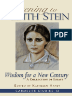 (Carmelite Studies (Book 12)) Kathleen Haney (Editor) - Listening to Edith Stein_ Wisdom for a New Century-ICS Publications (2018)