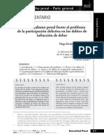 Hugo Favián Apaza Mamani-El Funcionalismo Penal Frente a La Participación Delictiva en La Infracción Del Deber