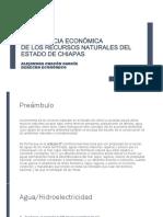 Importancia económica de los recursos naturales del Estado de Chiapas