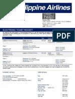 Electronic Ticket Receipt 12NOV for JOMEL C GARCIA