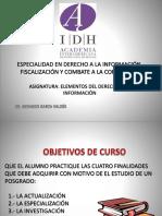 PRESENTACIÓN ESPECIALIDAD DERECHO A LA INFORMACIÓN