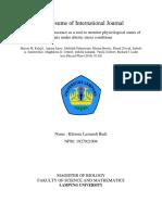 Resume International Journal Biosains tumbuhan