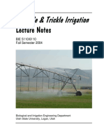Sprinkle & Trickle Irrigation Lecture Notes