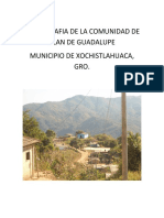 Monografia de La Comunidad de Plan de Guadalupe
