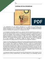 Psicoterapias Con Víctimas de Las Dictaduras (Impresa La Parte Que Sirve)