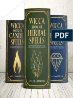 Wicca Spellbook Starter Kit.  A Book of Candle, Crystal, and Herbal Spells
