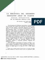 HAMPE MARTÍNEZ,Teodoro. La biblioteca del arzobispo Hernando Arias de Ugarte. Bagaje intelectual de un prelado criollo (1614).pdf