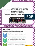 Medidas Para Prevenir La Discriminación