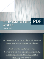Mathematics in Our World Ppt Report