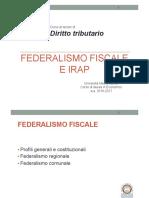 Federalismo Fiscale e Irap