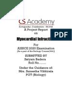 Myocardial Infraction S.docx