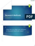 First Class - Research Methods