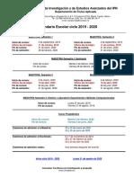 Calendario Ciclo 2019 - 2020