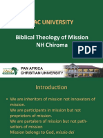 Biblical Theology of Mission class notes