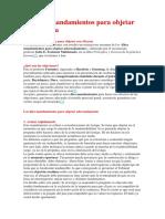 Los diez mandamientos para objetar con eficacia.docx