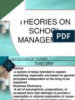 theories on school management
