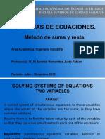 Sistema de ecuaciones Metodo suma y resta.pptx