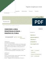 CONHECENDO A IGREJA PRESBITERIANA DO BRASIL – PRINCÍPIOS DE LITURGIA - Igreja Presbiteriana de Aracaju.pdf
