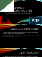 Delegacion y Descentralizacion