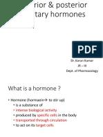 Anterior & posterior pituitary hormones