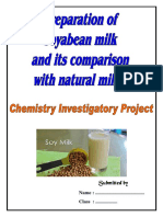 PREPARATION OF SOYBEAN MILK  ITS COMPARISON WITH NATURAL MILK