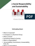 Corporate Social Resposibilty (CSR)
