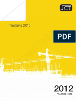 JCT- JCT Tendering Practice Note 2012