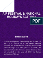 AP Festival and Holiday Act 1974 With Amendment of 1980.