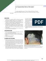 44 occipital and supraorbital nerve stimulator placement