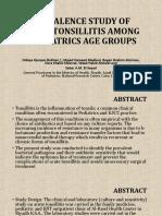 PREVALENCE STUDY OF ACUTE TONSILLITIS AMONG.pptx