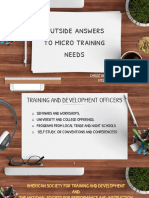 OUTSIDE ANSWERS TO MICRO TRAINING NEEDS
