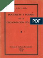 Cole, George D.H. - Doctrinas Y Formas de La Organizacion Politica [1937]