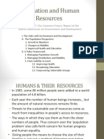 Population and Human Resources