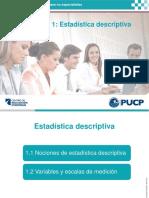 08-DIAPOSITIVA - INTRODUCCION A LA ESTADISTICA Y VARIABLES - PUCP.pdf