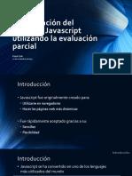 Optimización Del Lenguaje Javascript Utilizando La Evaluación Parcial