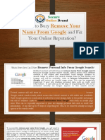 How to Bury Remove Your Name From Google and Fix Your Online Reputation?