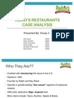 Rubio's Case Analysis
