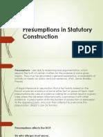Presumptions in Statcon ppt