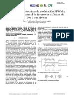 Análisis de Las Técnicas de Modulación SPWM y SVPWM en Control de Inversores Trifásicos de Dos y Tres Niveles - PDF Descargar Libre