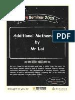 Mr Lai Add Maths Notes