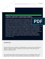 Logística Aplicada à Organização Pública.