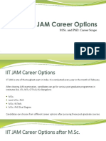 IIT JAM Career Options after qualifying M.Sc. and PhD