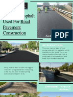 Types of Asphalt Used for Road Pavement Construction