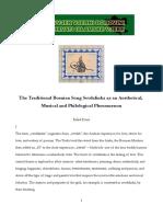 The Traditional Bosnian Song Sevdalinka as an Aesthetical, Musical and Philological Phenomenon.pdf